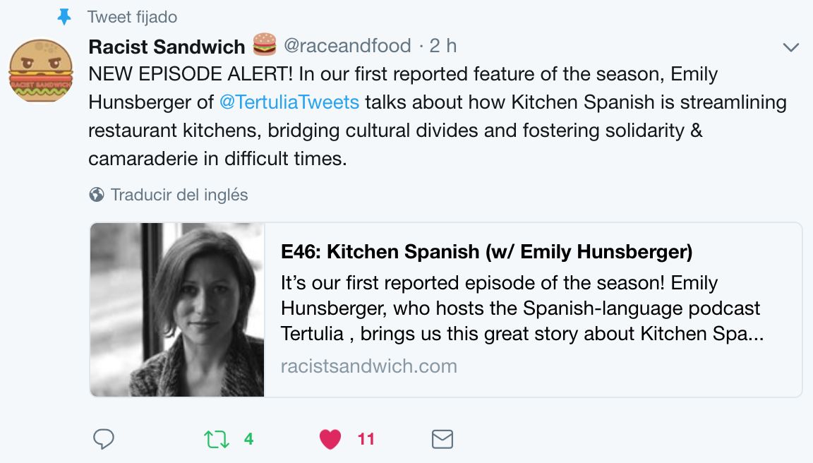 {:es}Kitchen Spanish, en colaboración con Racist Sandwich{:}{:en}Kitchen Spanish, in collaboration with Racist Sandwich{:}