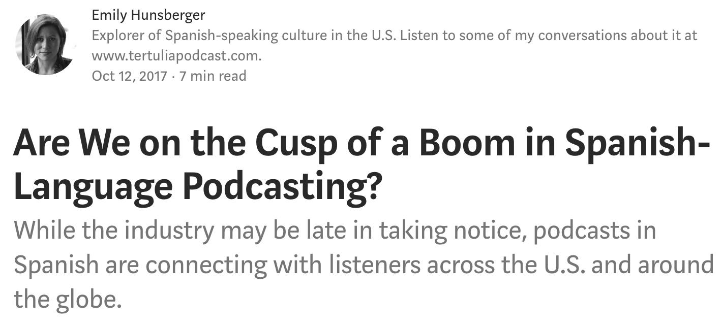 {:es}Una nota sobre el mundo del podcast en español{:}{:en}An article about the world of podcasting in Spanish{:}
